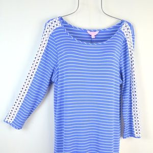 Lilly Pulitzer Dresses - Lilly Pulitzer MARLOWE Beacon Blue Stripe Dress